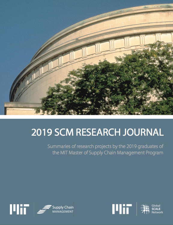 2019 MIT Supply Chain Management master's student research journal cover thumbnail